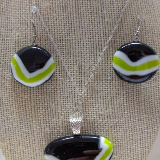 Puddle Pendant and Earring Set