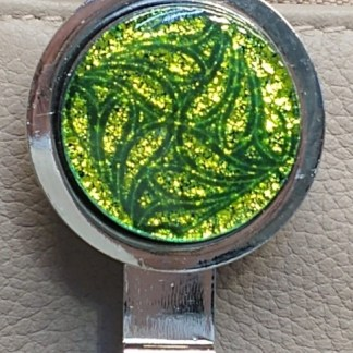 Green Dichroic Key Finder with Celtic Pattern