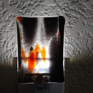 LED Nightlight with Halloween Colored Fused Glass