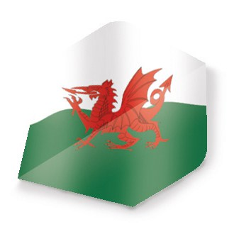 Unicorn Maestro Dart Flight - Flag of Wales Design