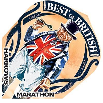 Harrows Marathon Best of British Dart Flights