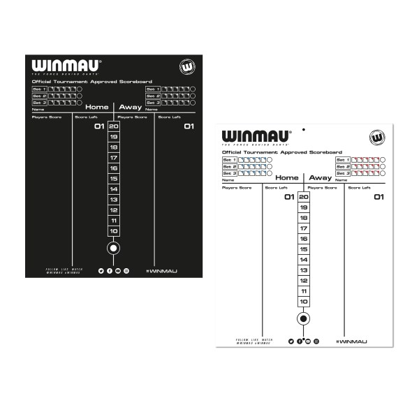 Harrows Dry Wipe Darts Whiteboard Scoreboard Markerboard With 4 Pens