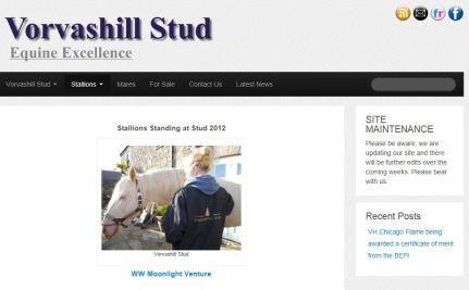 New Website for : Vorvashill Stud