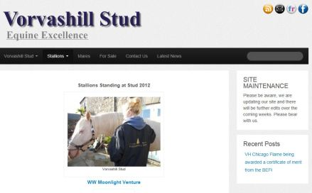 New Website for : Vorvashill Stud