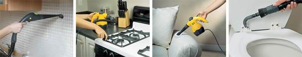le nettoyeur vapeur et ses accessoires