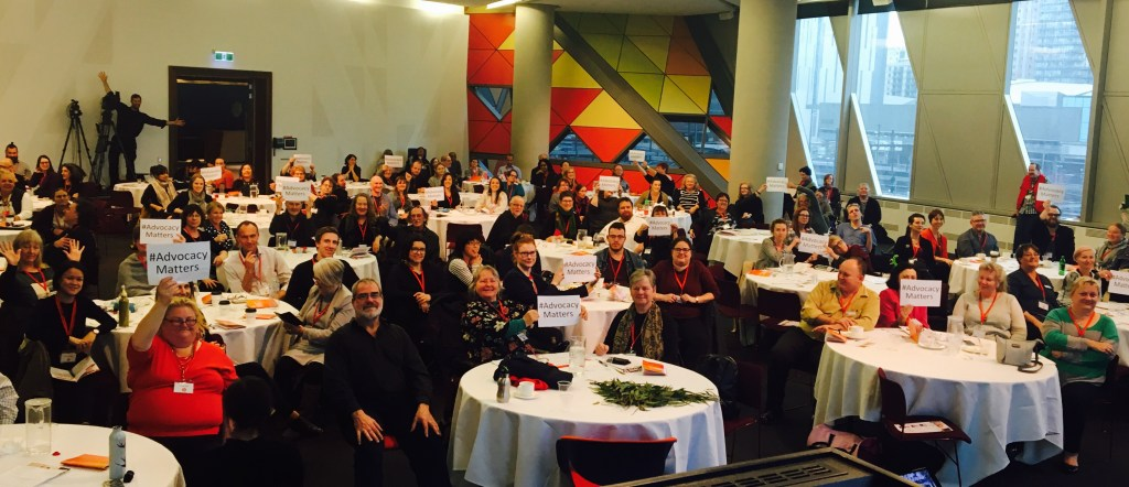SDAC17 delegates showing their support for the national advocacy matters campaign