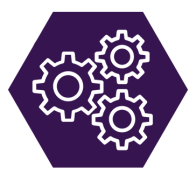multiple cogs icon