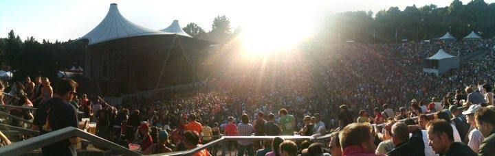 Panoramablick auf Pearl Jam