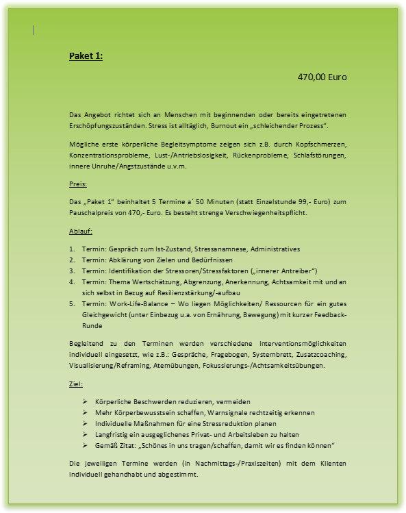 Stressmanagement & Burnoutprävention - Paket 1