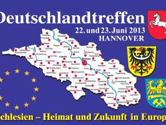 Plakat zum umstrittenen Deutschlandtreffen der Schlesier 2013