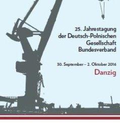 25. Jahreskongress der DPGB in Danzig: Plakat (c) DPGB