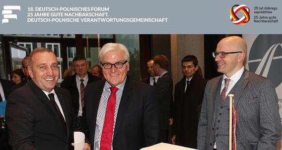 Foto: Deutsch-Polnisches Forum 2014 mit Bundesaußenminister Hans-Walter Steinmeier, © www.sdpz.org