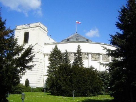 Parlamentsgebäude in Warschau, Sitz des Sejms in Polen