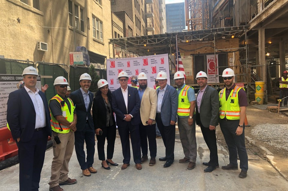 Hyatt Centric Philadelphia Tops Out