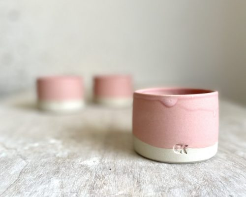 Pink handmade coffee cup – Coffee cup pottery handmade – Ceramic cup stoneware – Breakfast ceramic cup – Coffee lover pottery cup