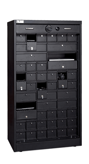 66 Inch High S G Secure Storage Cabinet With Lockable Compartment Inserts