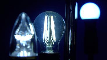 Eine LED-Glühbirne.