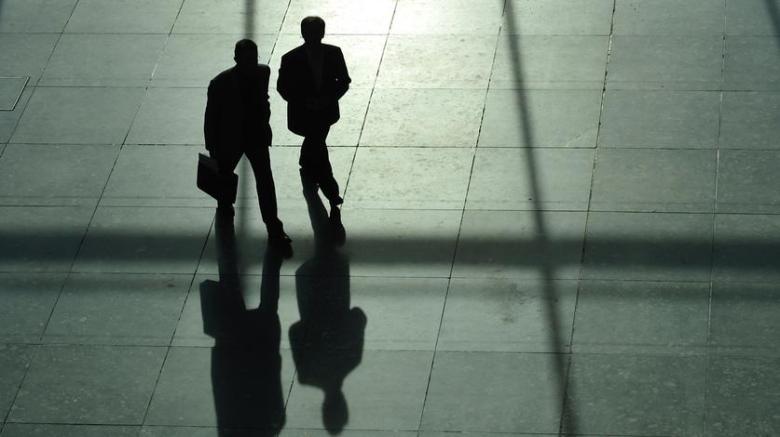 Schatten von zwei Menschen