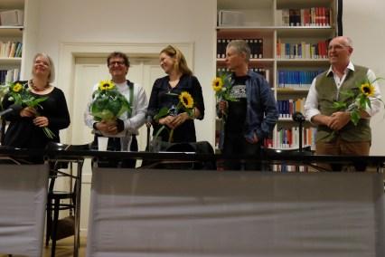 Sabine Zaplin, Anton G. Leitner, Dagmar Taylor, Richard Dove und Bill Soutter. Foto: Maren Martell