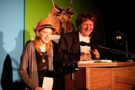 Anna Münkel und Anton G. Leitner beim 9. Lyrikstier. Foto: Maren Martell