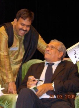 Talking about poetry & translation with Derek Walcott in Taiwan (Photos: Aminur Rahman, Dhaka, and Edition Delta, Stuttgart)