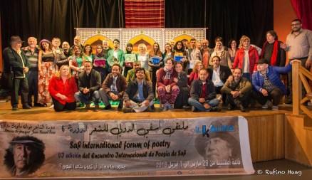 Abschluss in Safi mit den Preisträgern des JugendlyrikwettbewerbsFoto: Rufino Haag. Foto: Rufino Haag