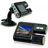 HD 720P Dual Lens Dashboard Car vehicle Camera Video Recorder DVR CAM G-sensor