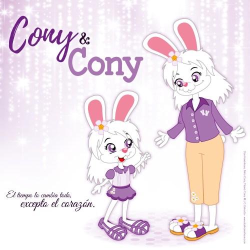 Niña y Mamá Cony