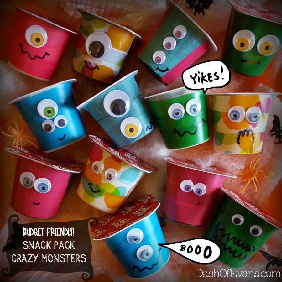 Fun Halloween Craft: Snack Pack Crazy Monsters!