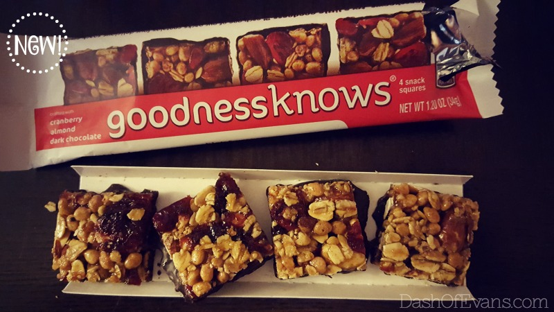 Try NEW Goodness Knows squares at Walmart!