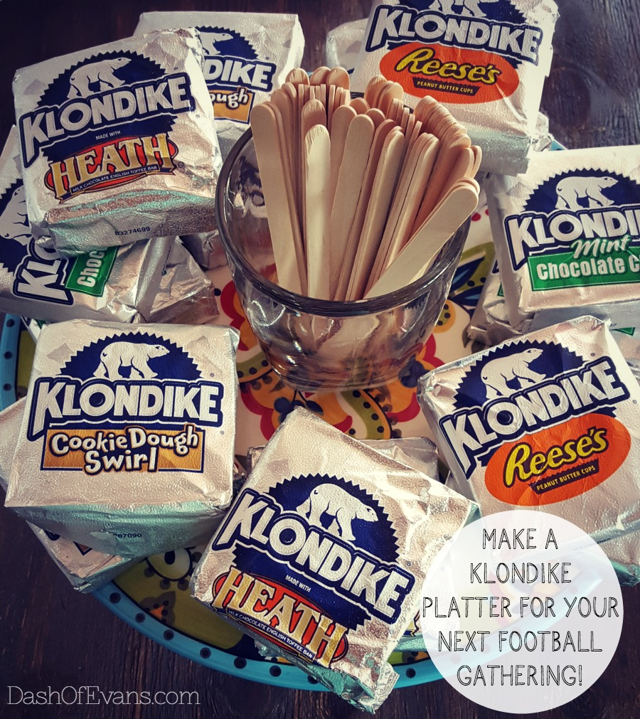 At your next football party, serve up a platter of Klondike® Ice Cream bars! With a variety of 12, there's something for everyone! via @DashOfEvans