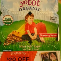 Look for specially marked YoBaby and YoTot yogurt packages for $20 off at Shutterfly!