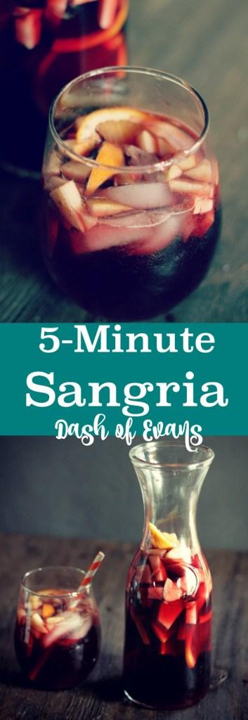 Everyone's party favorite: 5-Minute Sangria! • @DashOFEvans