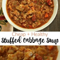 Stuffed Cabbage Soup via @DashOfEvans