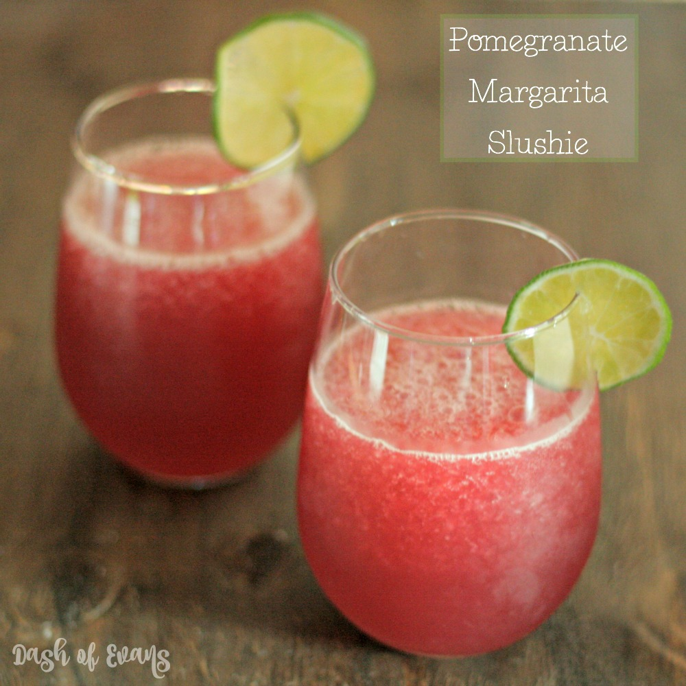 Pomegranate Margarita Slushie! YUM! Uses fresh squeezed juice and NO limeade. via @DashofEvans