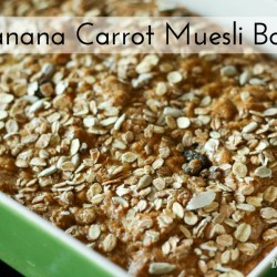 Banana Carrot Muesli Bars