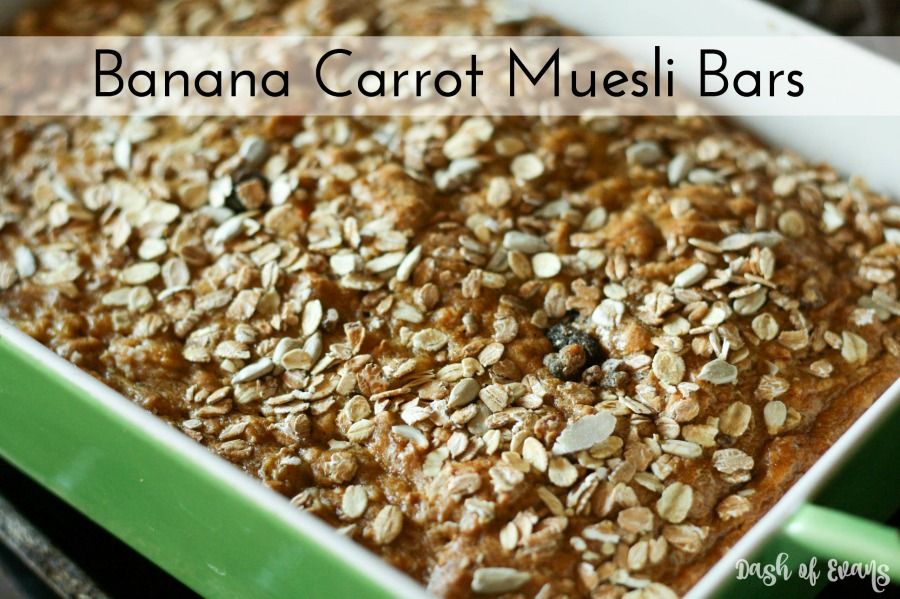 Banana Carrot Muesli Bars Dash Of Evans