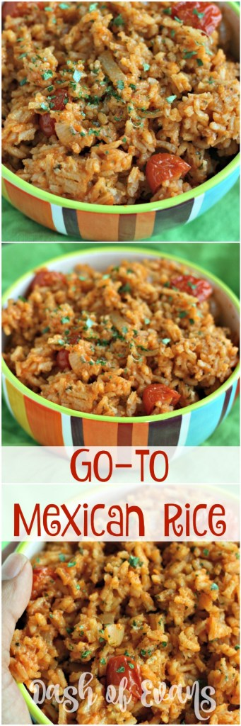 Every fiesta needs some GOOD rice, right? Here's your new go-to Mexican rice. You're welcome :) via @DashOfEvans