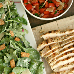 Grilled Chicken Bruschetta Salad
