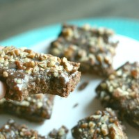 Salted Caramel-Chocolate Bars...YUM! Recipe from Recipe from Dorie's Cookies by Dorie Greenspan