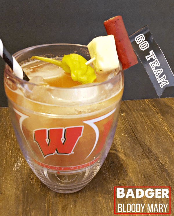 Tervis has all of your tailgating needs covered! Check out this delish Badger Bloody cocktail, too! via @DashOfEvans #Tervis #ad #Wisconsin #Badgers
