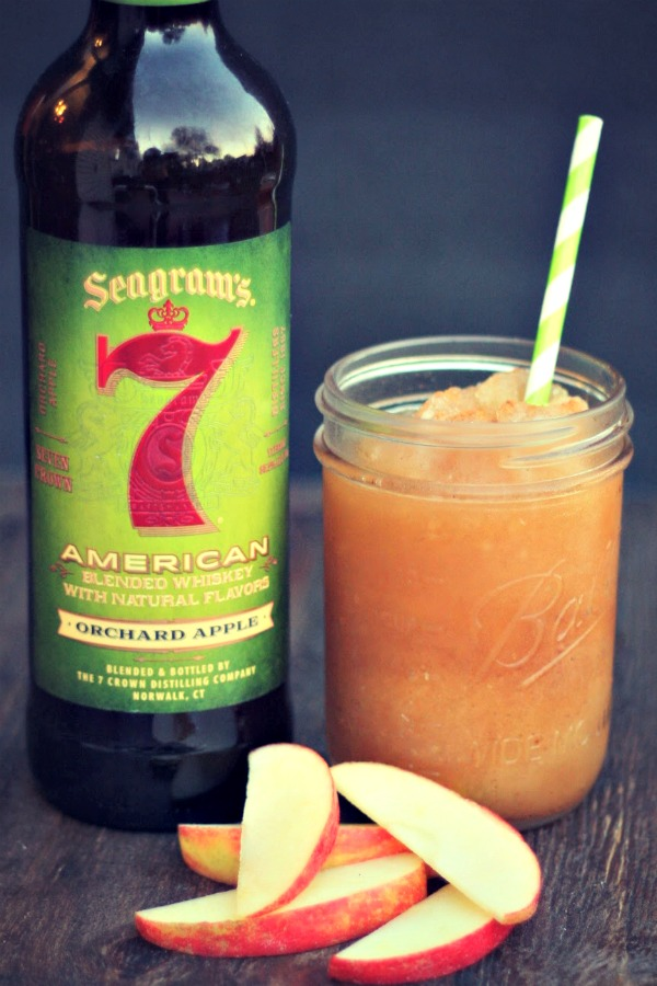Take your Apple Cider Slushie to the next level with some Apple Whiskey! YUM! via @DashOfEvans