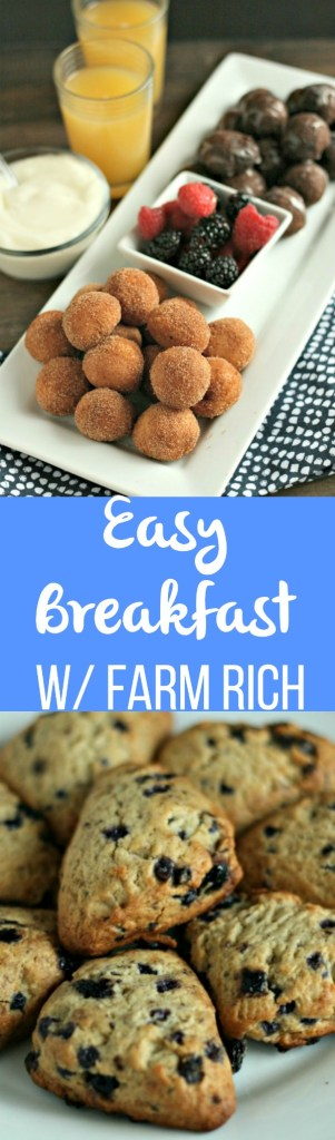Simplify breakfast with Farm Rich Bakery! Glazed Donuts, Blueberry Scones and more all found in the freezer section! YUM! via @DashOfEvans