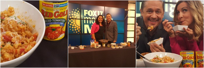 I always have a blast on the Fox17 Morning Mix! This week, I made Tomato Risotto with Red Gold Tomatoes! YUM! @DashOfEvans