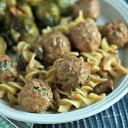 Slow-Cooker Turkey Stroganoff Meatballs ...