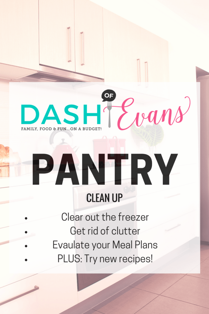 Join the @DashOFEvans 2017 Pantry Clean-Up. Find out the first steps and how to get control of your pantry!