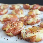 Everything Bagel Spiced Smashed Potatoes