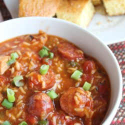 One Pot Sausage + Shrimp Cajun Bowl