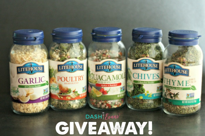Enter to win a variety of the Litehouse spices--perfect for adding a pop of flavor to any meal! via @DashofEvans