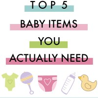 Top 5 Baby Items You Actually Need...plus nesting with Shipt from Meijer! via @DashOfEvans